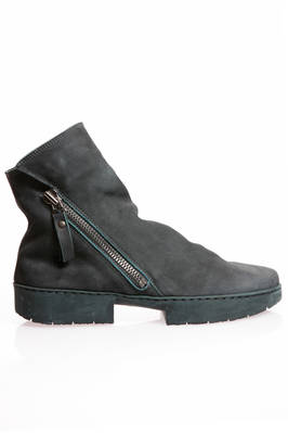 TOURIST ankle boot in soft suede cowhide leather and two blocks rubber sole  - 51
