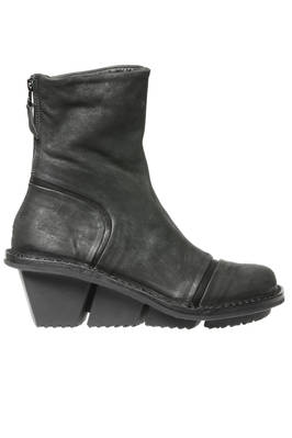 SWEET ankle boot in soft treated cowhide leather and sole with three blocks rubber heel  - 51