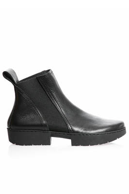 WORK ankle-boot in cowhide leather with new sole 'spot' with two rubber blocks  - 51