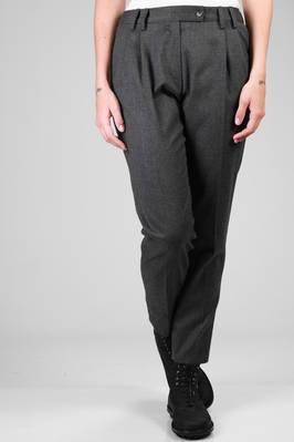 man trousers in wool flannel  - 276
