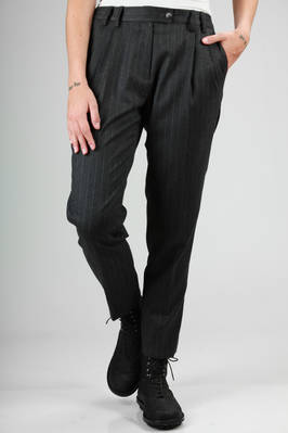 man trousers in pinstripe wool flannel  - 276