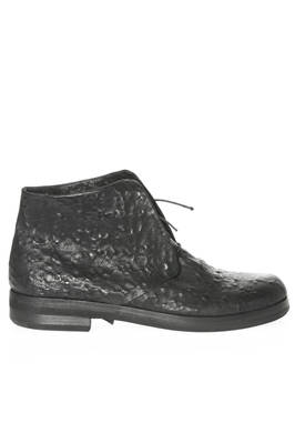 hand-made ankle boot in embossed leather  - 283