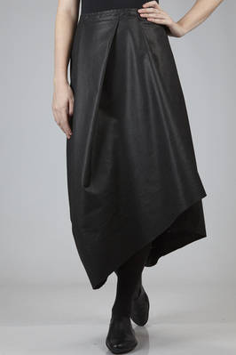 long and asymmetric skirt in a paper effect polyester fabric  - 275