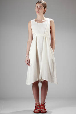 calf-length dress in hemp canvas  - 277