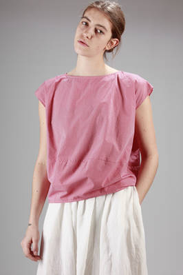 hip-length t-shirt in cotton vichy  - 277