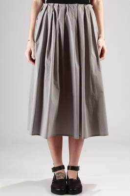 long and wide skirt in cotton vichy canvas  - 277