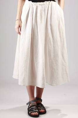 long and wide linen canvas skirt  - 277