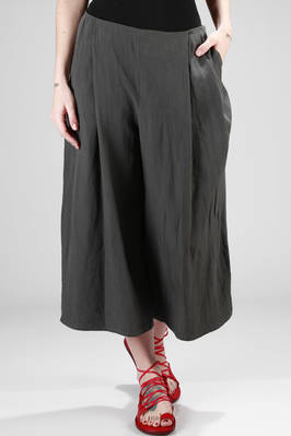 wide trousers in linen canvas  - 277