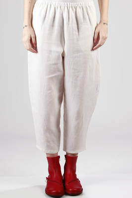 wide linen canvas trousers  - 277