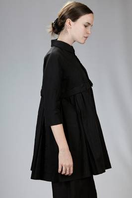 long and wide jacket in treated rayon and polyester high-tech fabric - COMME DES GARÇONS