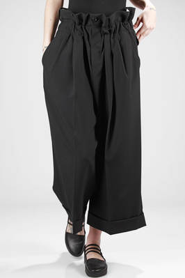 wide trousers in wool tropical  - 48