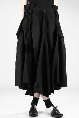 long corolla skirt in wool gabardine  - 48