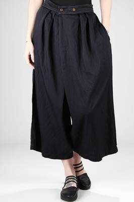 baggy trousers in very light polyester twill with jacquard texture  - 157