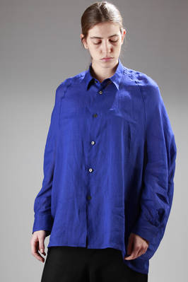 long and wide shirt in light ramié canvas  - 74