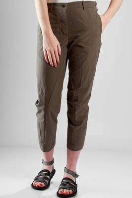 trousers in creased cotton canvas  - 161