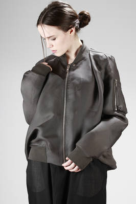wide and asymmetric bomber in silk organza  - 120