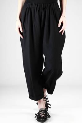 wide trousers in a slightly iridescent rayon, cotton and silk gauze  - 123