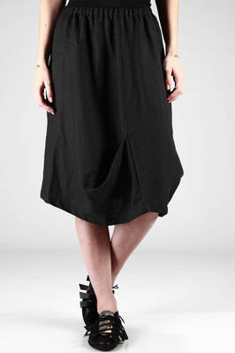 under-the-knee skirt in heavy linen canvas  - 123