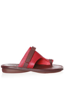 IBIZA flip flop sandal in soft elk leather and cowhide leather parts in contrasting colour  - 51