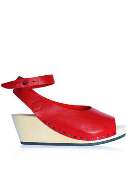 ORINOCO high clog in soft cowhide leather with the upper part simulating a shoe  - 51