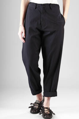 wide trousers in slightly creased cotton and rayon canvas  - 97