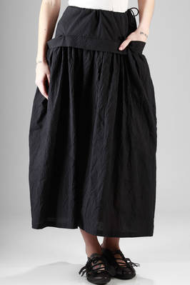 long and wide skirt in very light creased cotton canvas  - 97