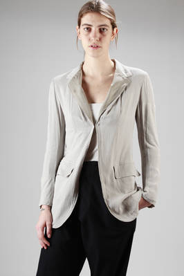long jacket in viscose gauze and linen manufactured with squares in different consistences, cupro lined  - 97