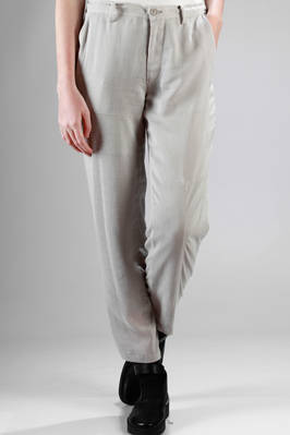 straight and slim trousers in linen and viscose gauze, cupro lined  - 97