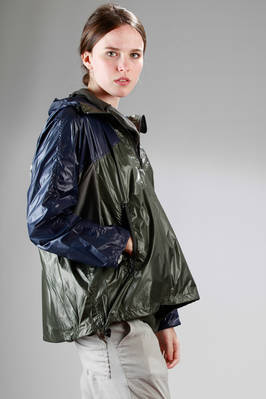 ZUCCA - Short Raincoat In Light Nylon Taffetas With Different ...