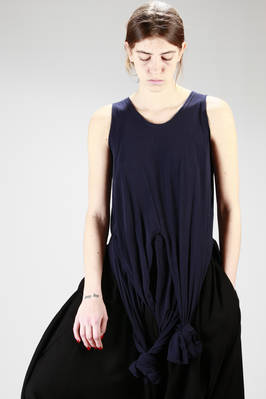 asymmetric hip-length top in light cotton jersey  - 73