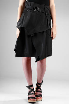 1325 . Isey Miyake - algorithmic origami developed wrap skirt in recycled polyester canvas  - 47