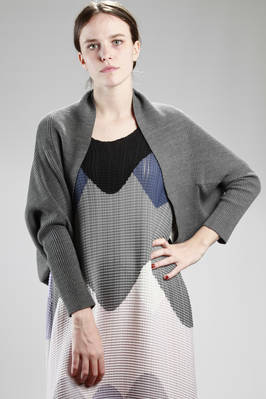 132 5. Issey Miyake – rib-knit melange shawl in recycled cotton, linen, nylon and polyurethane  - 47