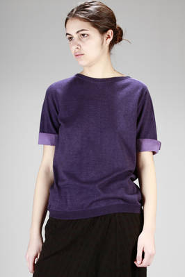 hip-length sweater in light poplin and cotton jersey with shaded spray gun coloration  - 288