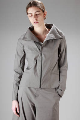 hip-length jacket in light cotton, nylon and elastan canvas  - 292