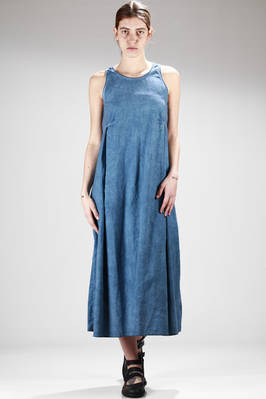 long dress in washed cotton muslin  - 275
