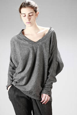 over-fitting sweater in dyed cotton jersey  - 275