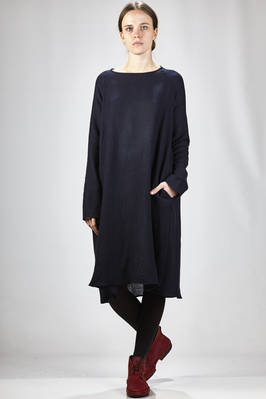 calf-length dress in soft wool and linen cloth  - 277