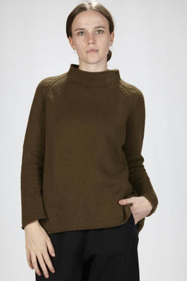 hip-length sweater in cashmere cloth  - 277