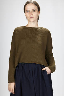 short sweater in cashmere cloth  - 277