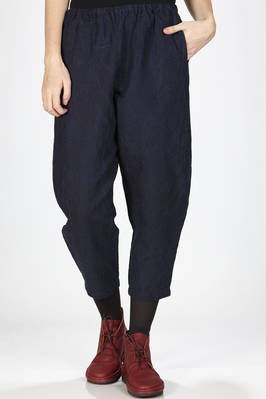 soft and short trousers in rigid hand denim cotton and linen cloth  - 277