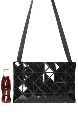 medium size rectangular shoulder bag made of polish PVC  - 237