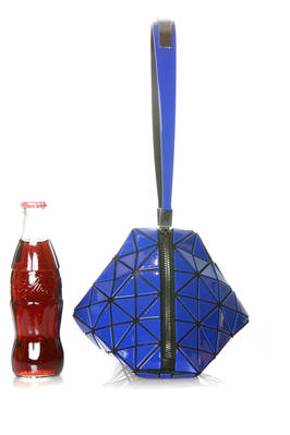 small prism bag made of triangular iridescent polished DIAMOND GLOSS PVC plates  - 237