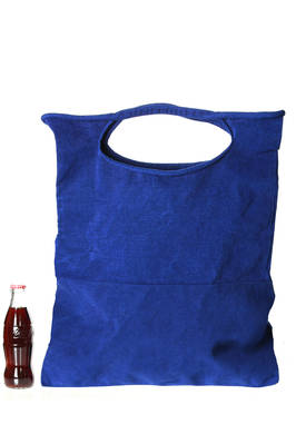 shopper large bag in velvet rigid polyester and nylon cloth  - 203
