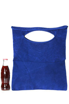 shopper medium bag in velvet rigid polyester and nylon cloth  - 203