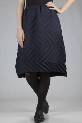 "knee length skirt in diagonal ""fan"" polyester pleats  - 203"