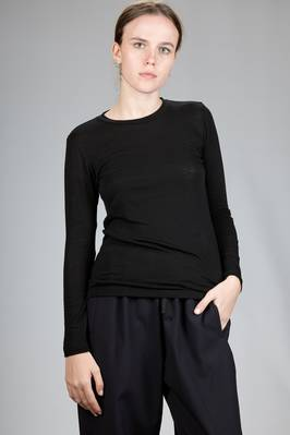 basic t-shirt in polyurethane, wool and lyocell jersey  - 203