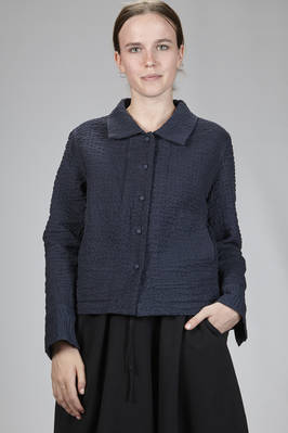 hip-length jacket in double cotton seersucker  - 202