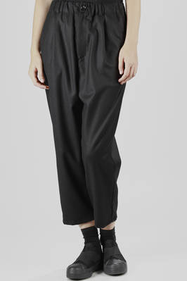 Wool flannel, nylon and cachemire wide leg trousers  - 121