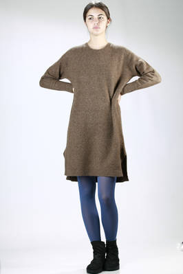 Stretch nylon and alpaca longuette dress - ZUCCA