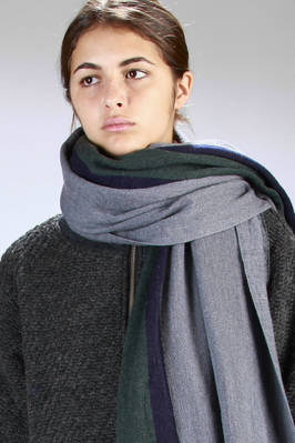 Wide rectangle shaped stripe scarf in soft cloth fabric  - 121